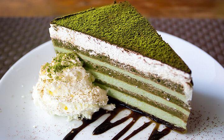 کیک خامه ای ماچا